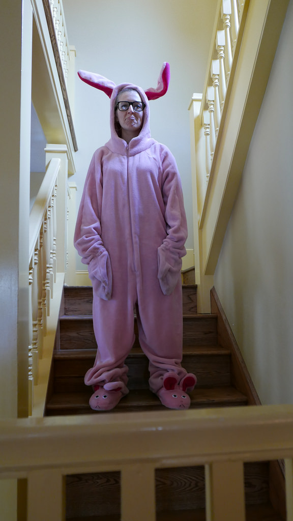 Christmas Story Bunny Pajamas.I Wore A Pink Bunny Suit In The Christmas Story House The